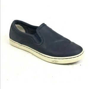 Ugg Leather Slip On Sneakers